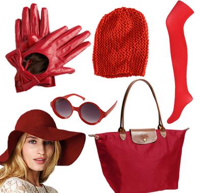 kırmızı bere, kırmızı şapka, kırmızı çorap, kırmız gözlük 2013