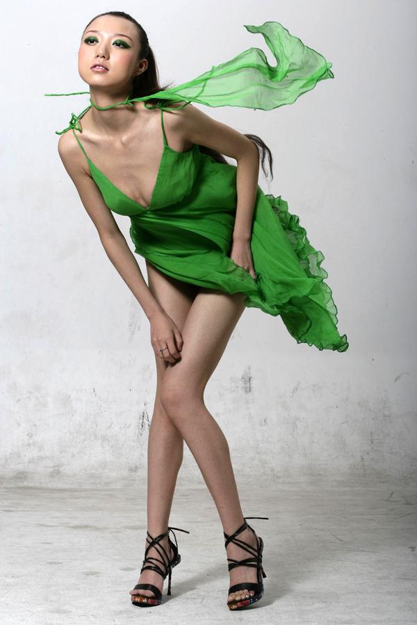 yeşil elbise 4