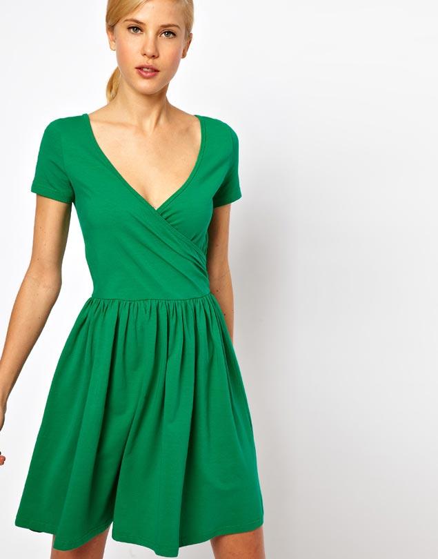 yeşil elbise 5