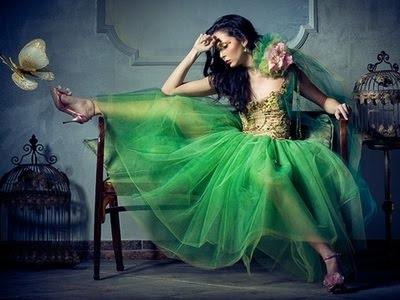 yeşil elbise 8